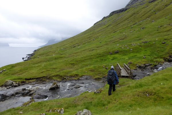 Walking on the Faroe Islands