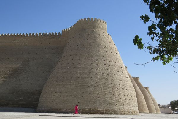 The walls of Bukhara, Uzbekistan