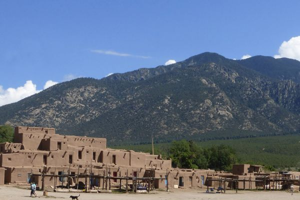 The oldest continually inhabited community in the USA, the Taos Pueblo
