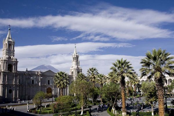 We explore the UNESCO listed Baroque heritage of churches and mansions of Arequipa