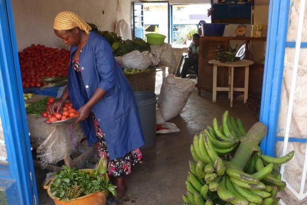 A corner grocery store in Nyamirambo, Kigali