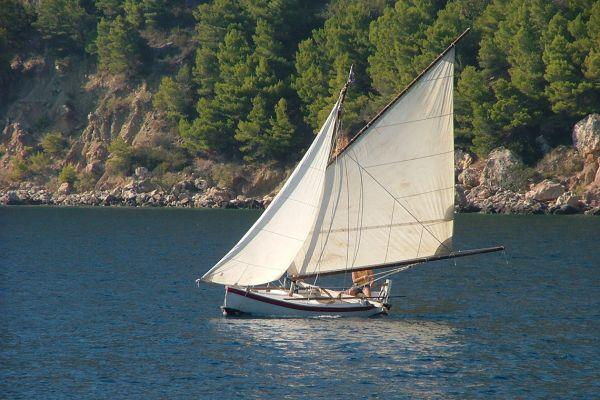 Traditional Vis island boat, Croatia