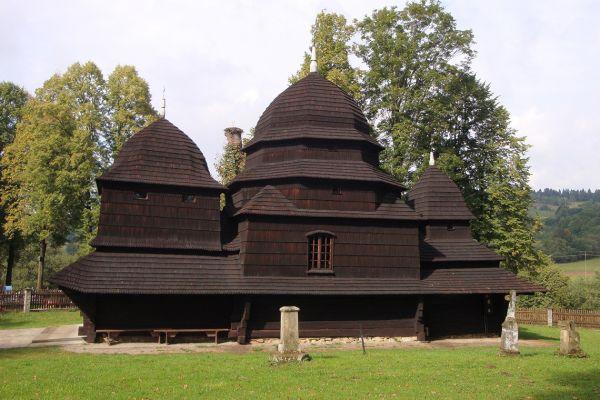 Wooden Uniate church, Carpathians, Poland