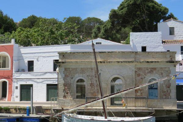 Traditional Menorcan boat in Ciutadella harbour