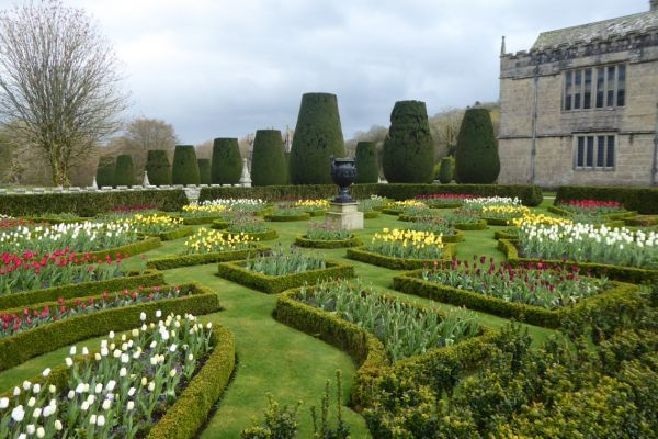 Formal gardens at Lanhydrock