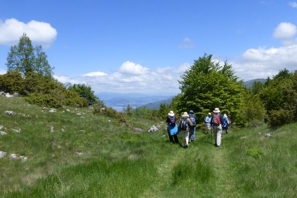Our walk in Galicica National Park above Lake Ohrid in Macedonia
