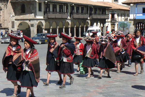 School girls in Cusco