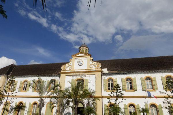 Colonial era Hôtel de Ville in St Pierre, Réunion