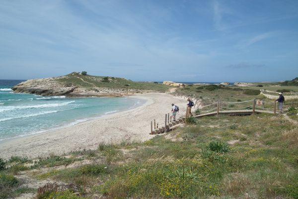 Walking on the south coast of Menorca