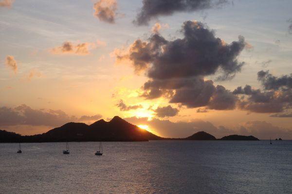 Sunset on Grenada