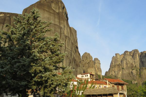 We spend two nights in Kastraki, set in the shadow of the incredible Meteora rock pillars