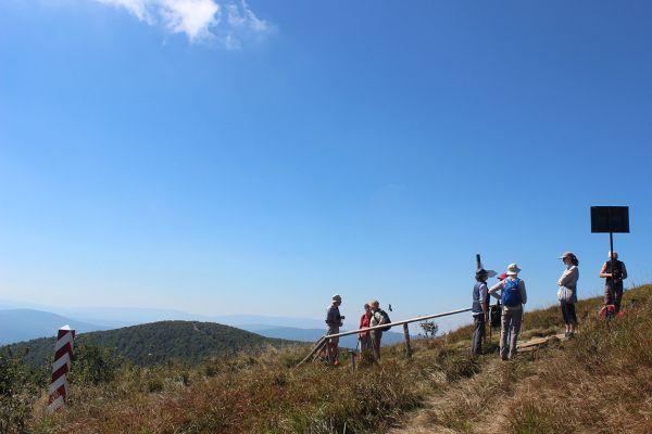 Walking in the Bieczszady National Park near the border with Slovakia and Ukraine