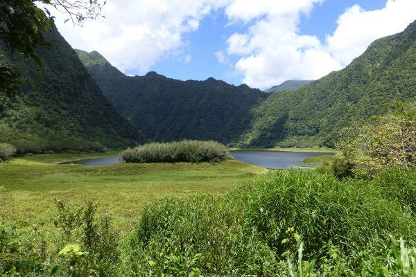 Volcanic lake Grand Étang
