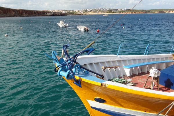 Fishing boat in Sagres harbour, Portugal