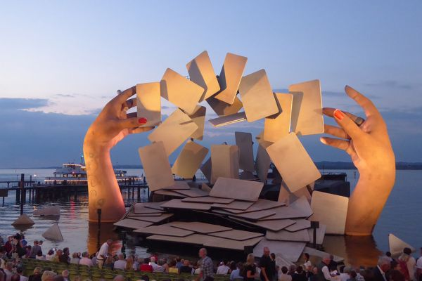 The Bodensee floating stage in Bregenz