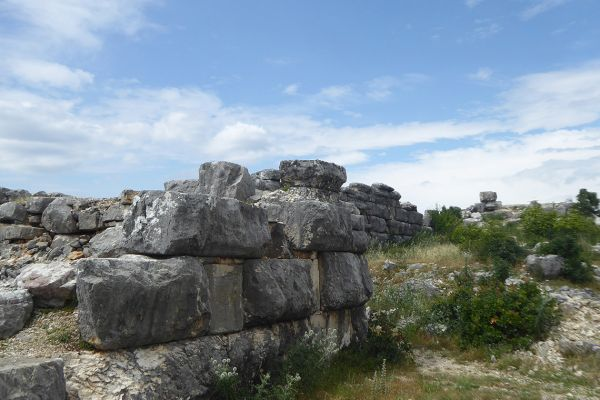 The cyclopean walls of an ancient fort  at Daorson