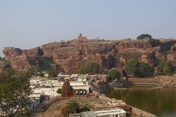 Badami seen from the Cave Temples