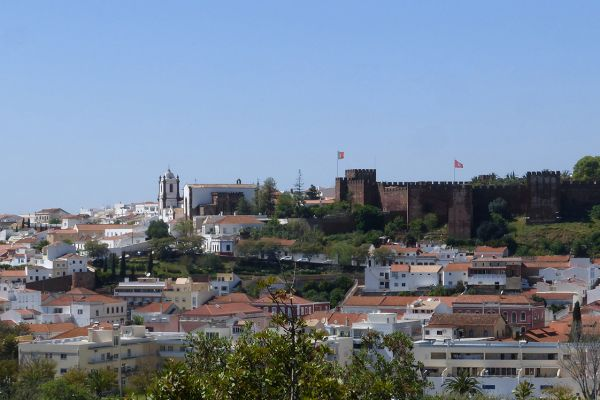 The impressive Moorish castle in Silves and the surrounding area