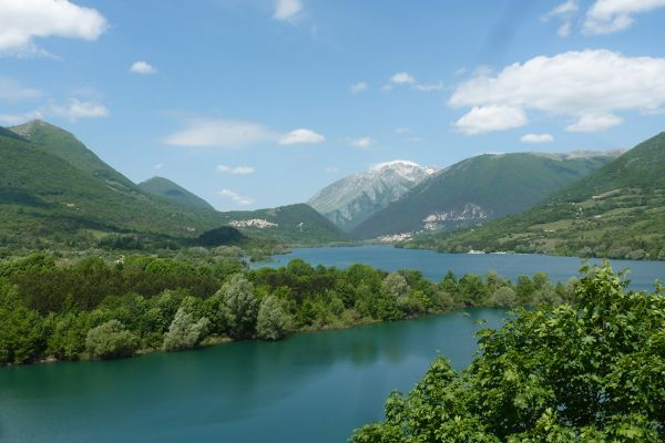 A lake on the tratturo route, Italy