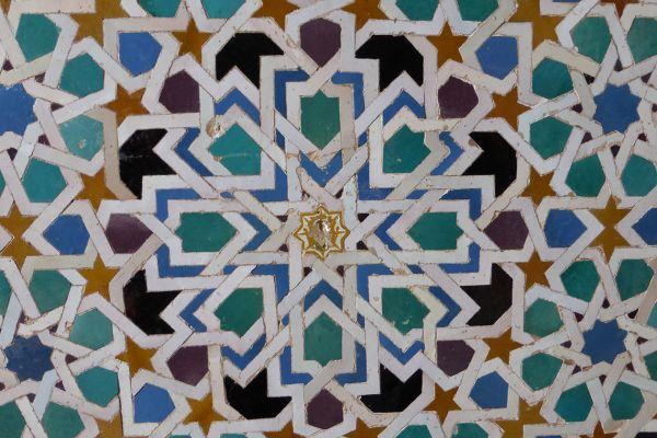 14C tiles in Alhambra