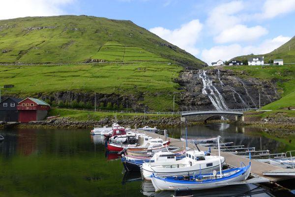 Vestmanna harbour, Faroe Islands