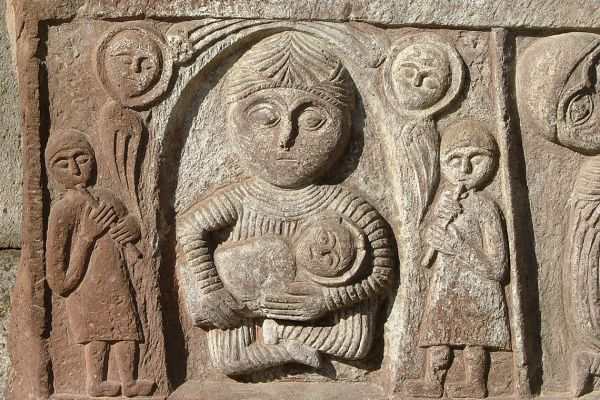 Carved stonework, Echmiadzin Cathedral, Armenia