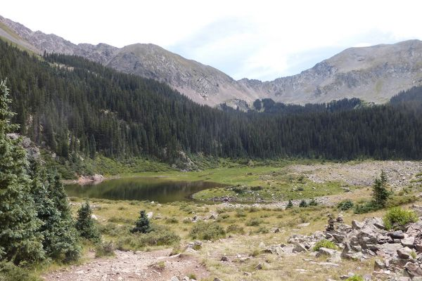 Williams Lake below Wheeler Peak