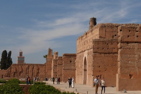 Remains of El Badi Palace in Marrakech