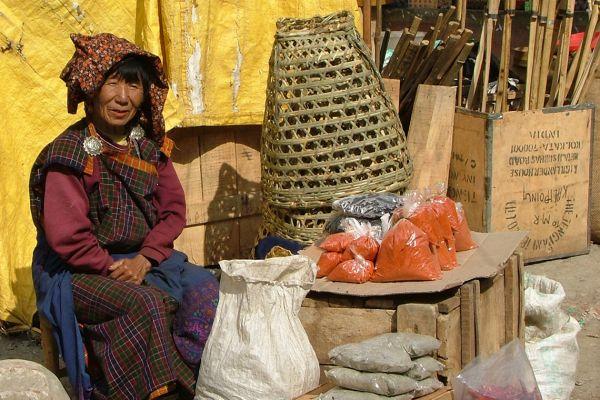 Market scene in Bhutan