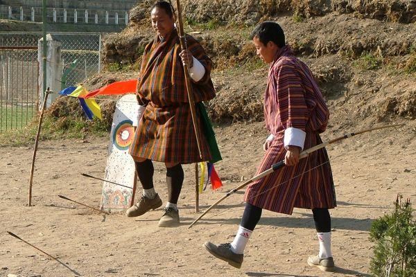 Archery, the national sport of Bhutan