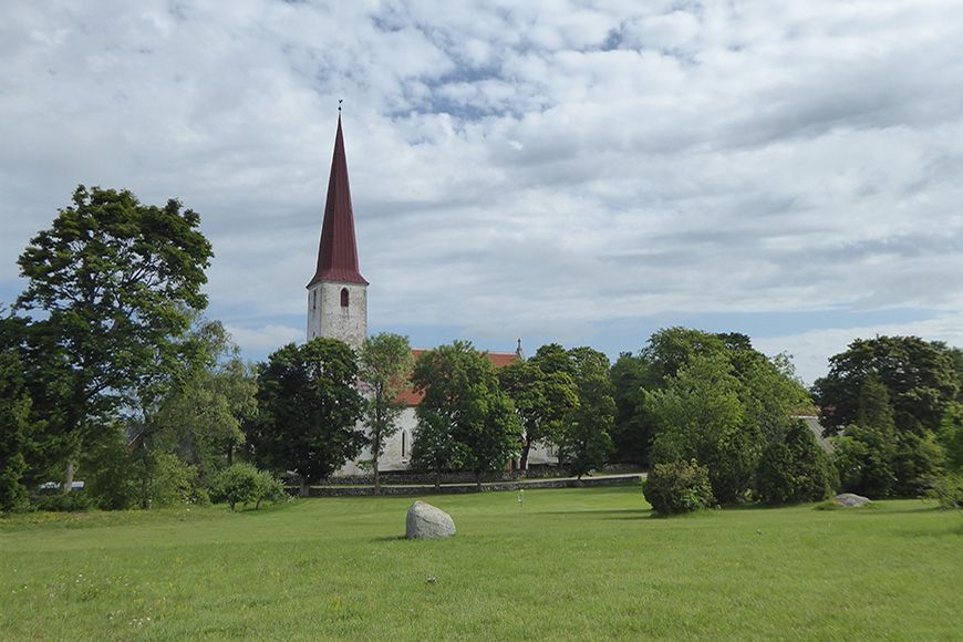Estonia Kihelkonna church