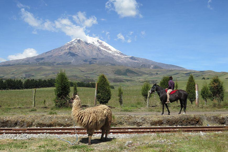 Ecuador Chimborazo volcano
