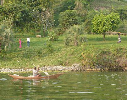 Rwanda lake shore