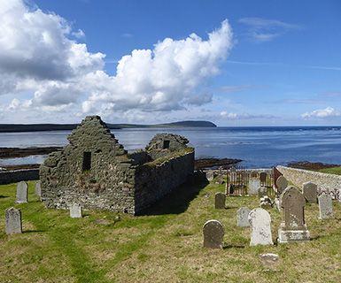 Orkney Rousay church