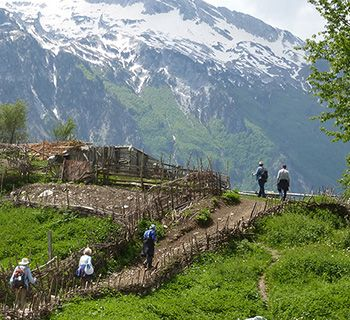 Albania mountain walk