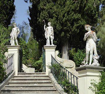 Corfu statues