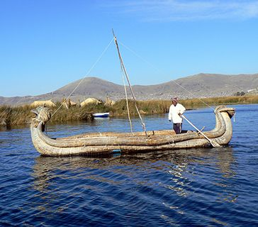 Peru reed boat