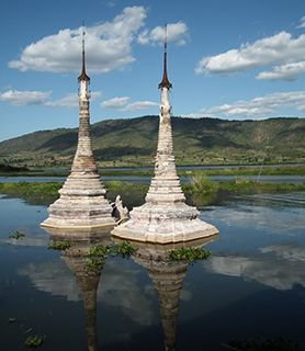 Myanmar lake temple
