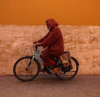 Marrakech man on a moped