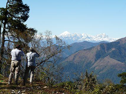 Bhutan walkers