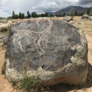 Kyrgyzstan petroglyph